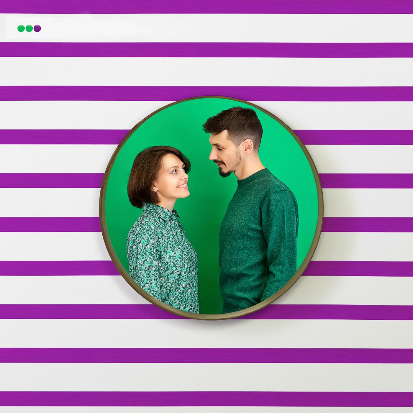 megaton conceptual photography stripes couple Lovers love story