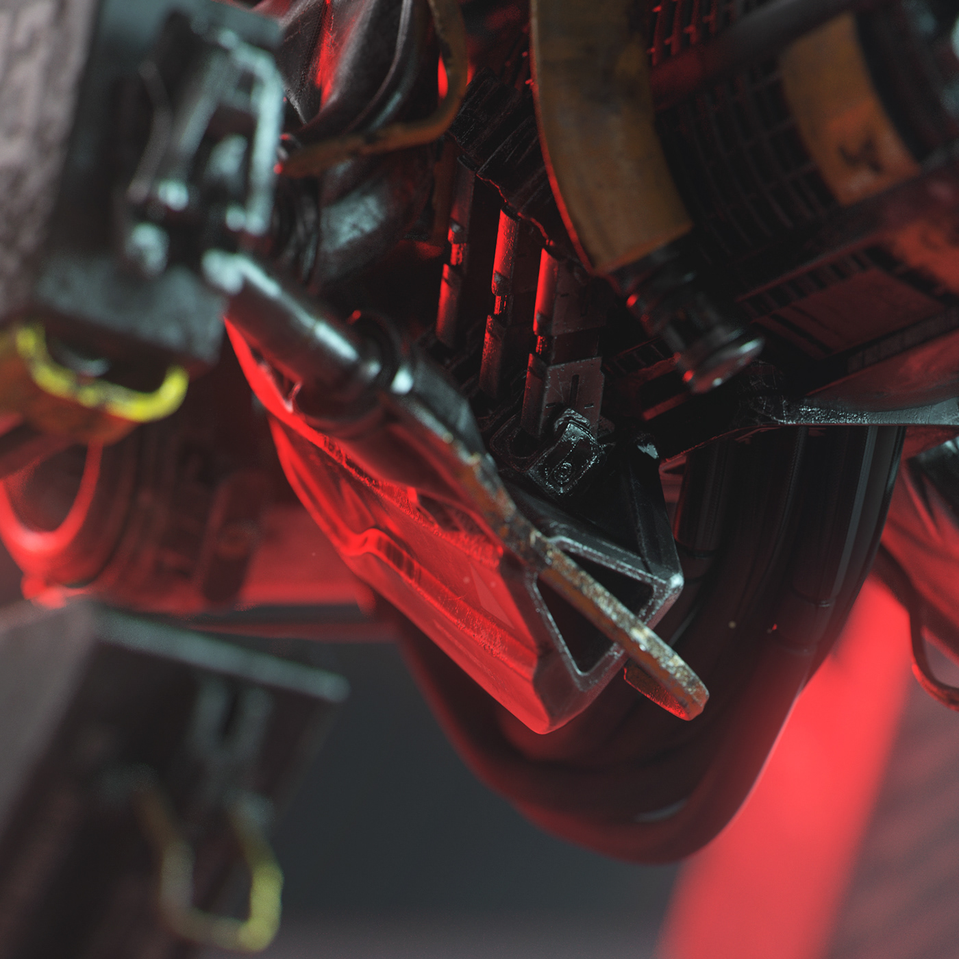 houdini redshift vfx mecha substance 3D robot