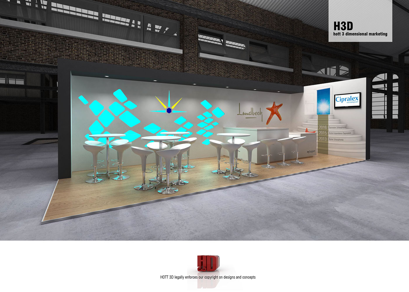 Exhibition Stand Rental Cape Town : Lundbeck sasop on behance
