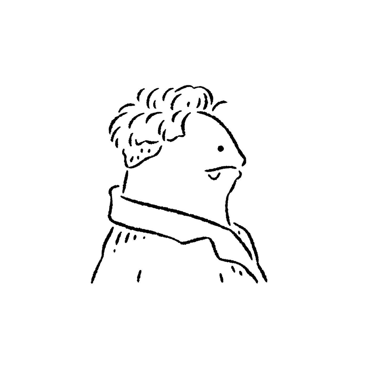 art ILLUSTRATION  popoland イラスト 插畫 波寶島 藝術 角色 簡約 黑白