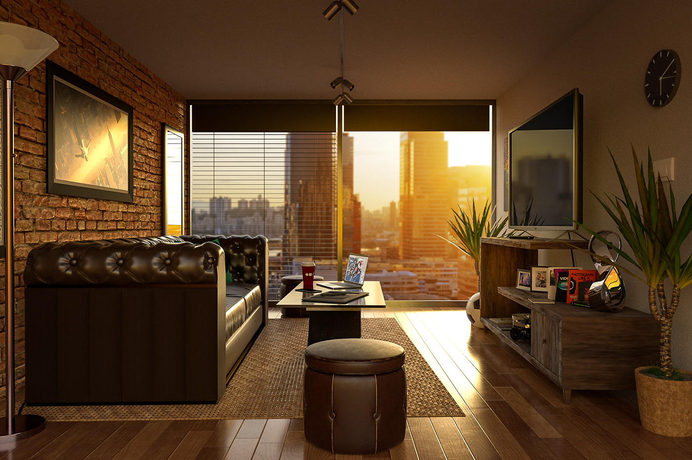 Contemporary Living Space - 3D Scene in Dimension CC on Behance