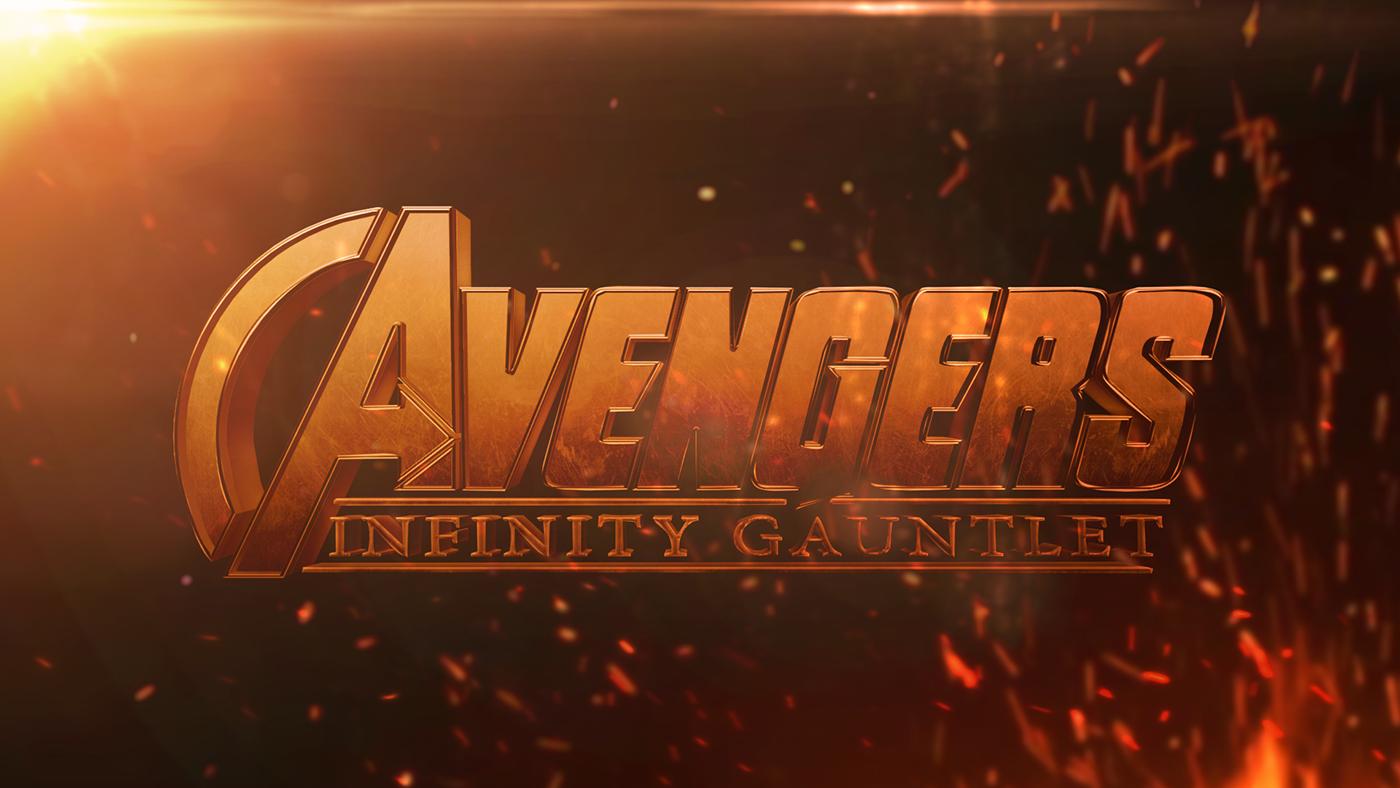 avengers infinity gauntlet logo on behance