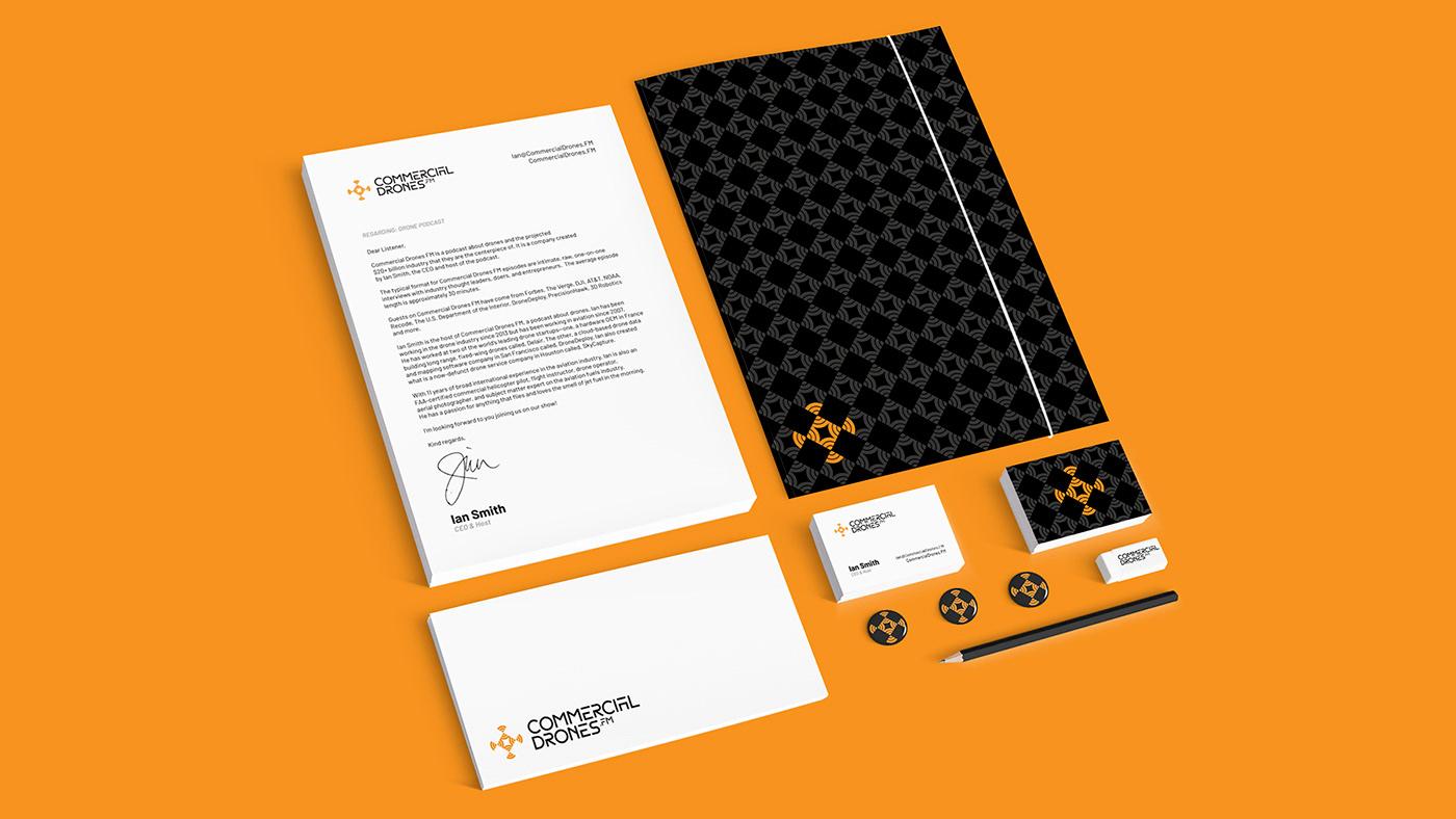 rebranding drone Radio grid logo Logotype clean Icon commercial orange