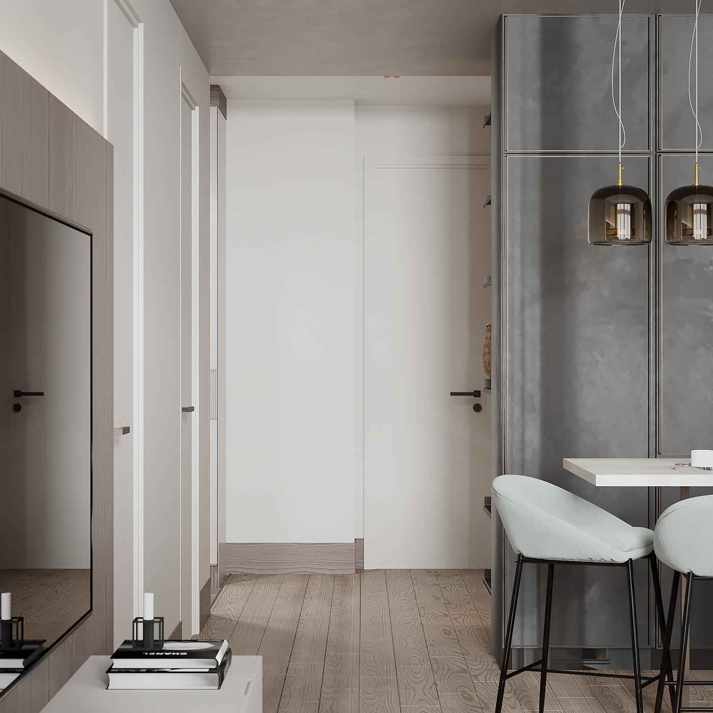 3ds max corona render  Interior interior design  modern design apartment