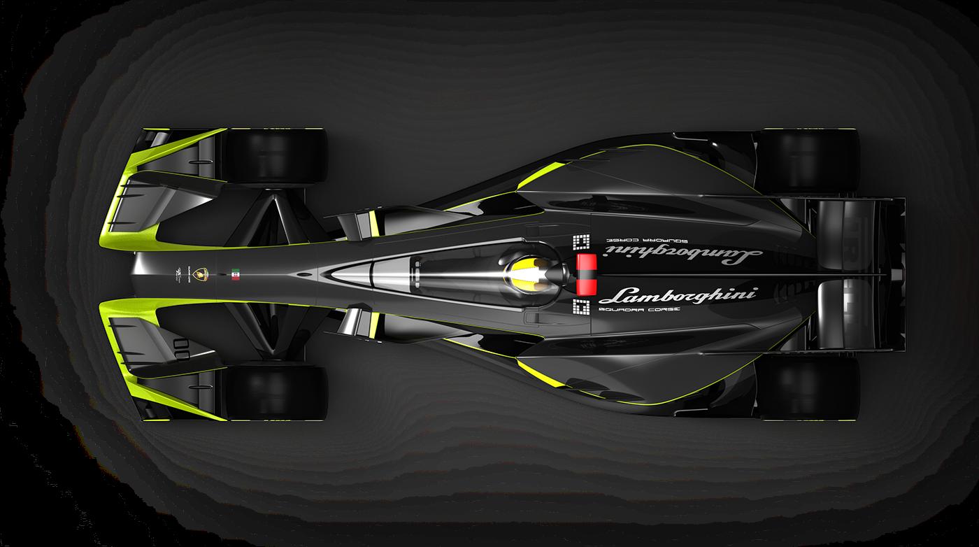 Lamdorghini f1 concept car Alias 3Dmoedling keyshot