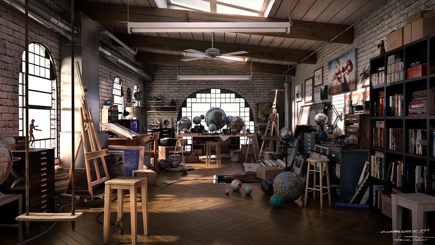 la chambre d 39 artiste on behance