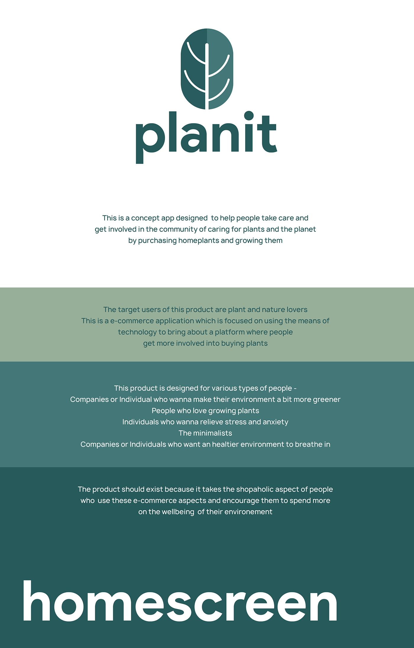 plants UI minimal planet earth green app e-commerce Nature ux