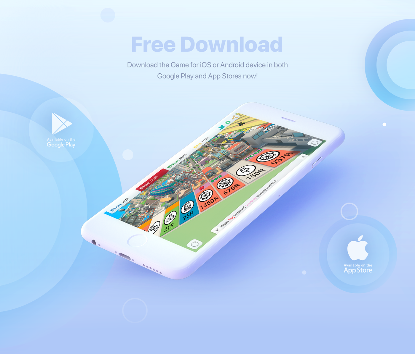 Free 3D Mobile Game - Rentomania on Behance