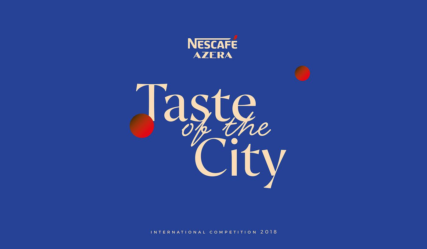 Coffee nescafe Azera Nescafe Azera Packaging ILLUSTRATION  graphic design  blue moment sharing