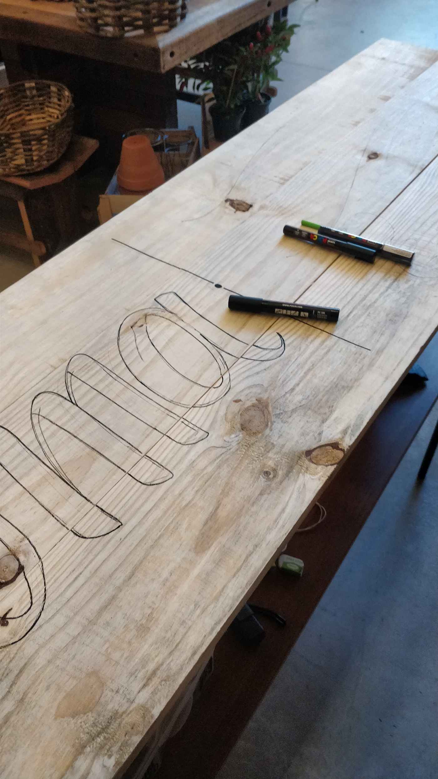 Image may contain: table, tool and wooden