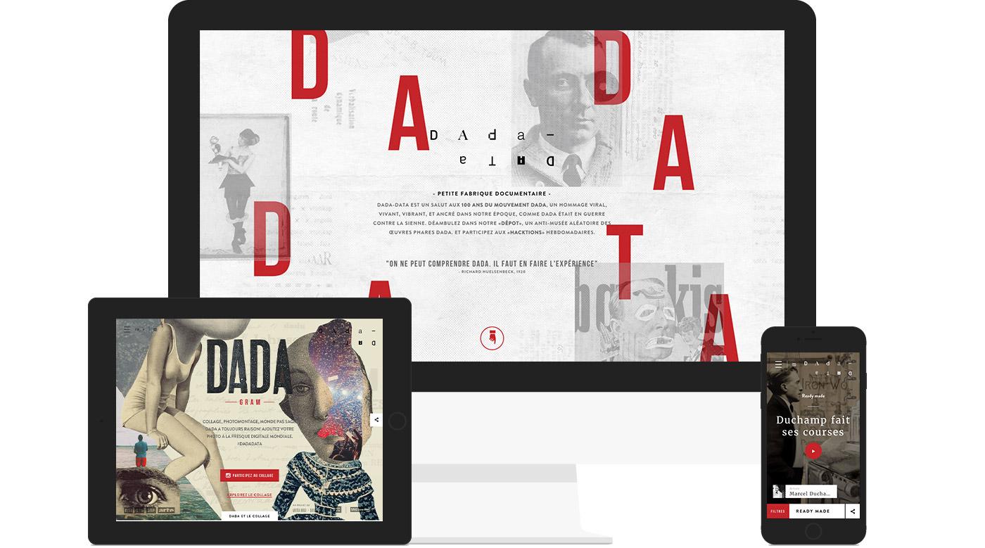 Dada,dadadata,Data,art,dadaism,dadaïsme,site,Web,interactive,collage,pub,Experience,tweet,readymade,3Dprinter