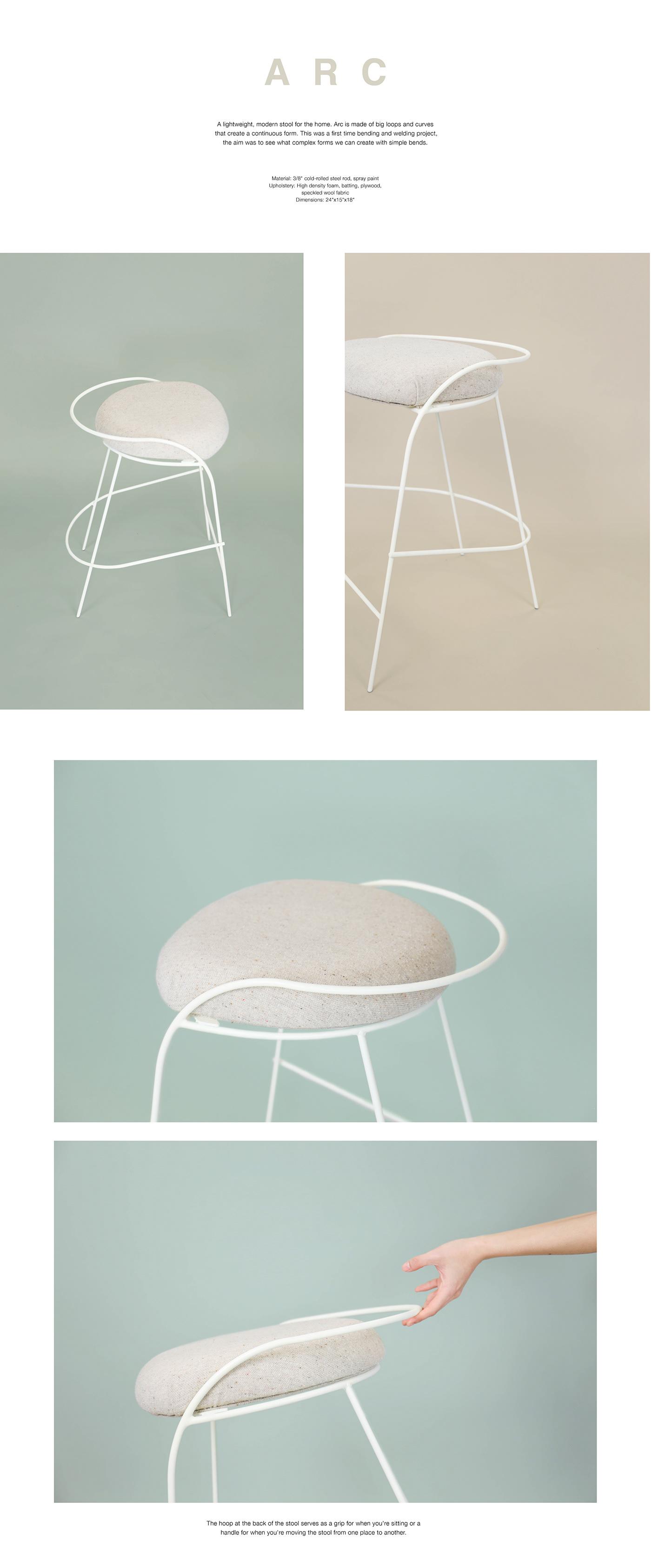 stool furniture industrial design  chair steel