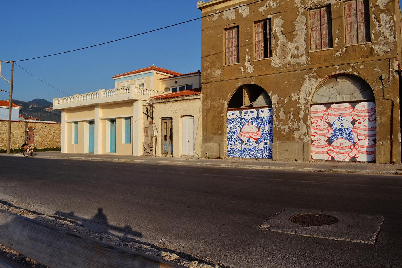 barba dee Dreyk the Pirate duality Karlovasi Mural samos Street Art