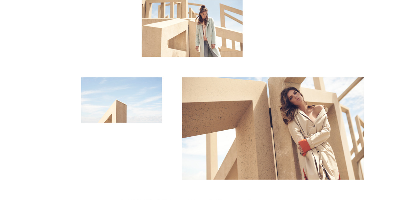 moodboard photo grid for women's fashion website