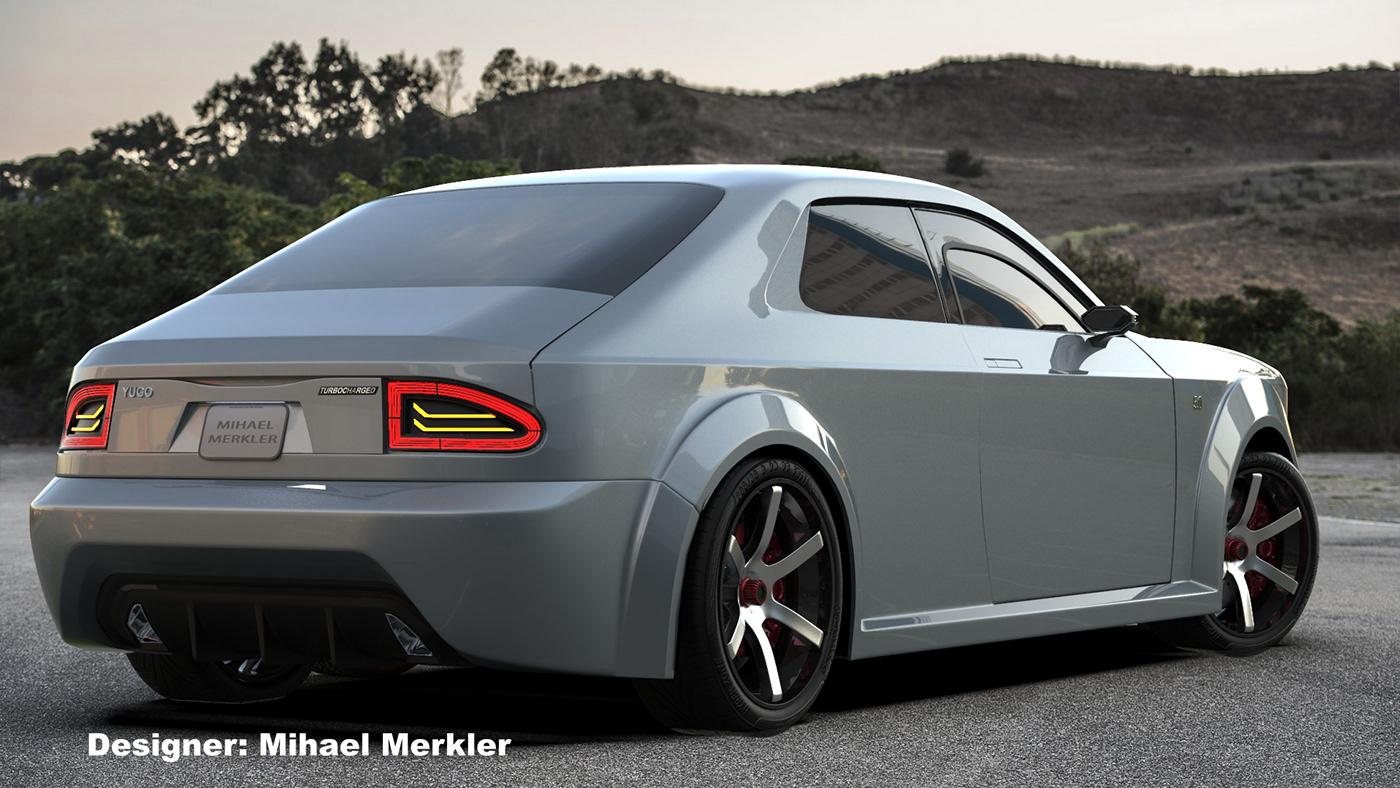 yugo conceptcar skala55 sportcar musclecar automotivedesign coupe