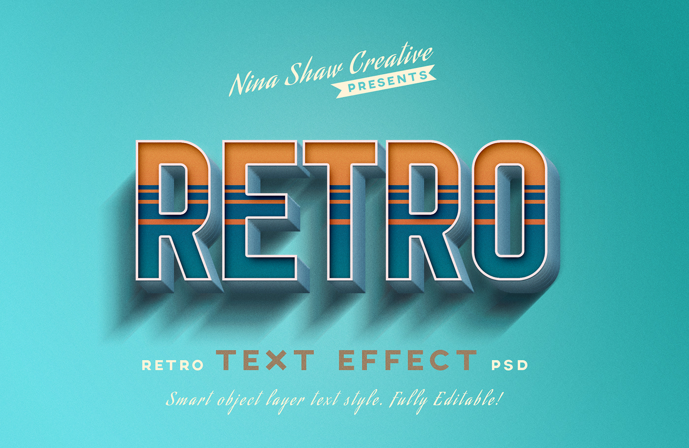 Retro/Vintage Text Effects on Behance