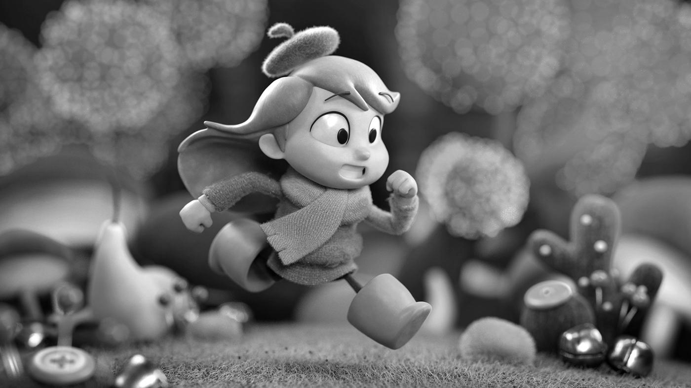 Character cute hilda Miniature Lookdev Diorama environment cartoon stylized