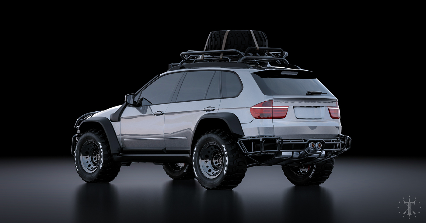 Bmw X5 Offroad On Behance