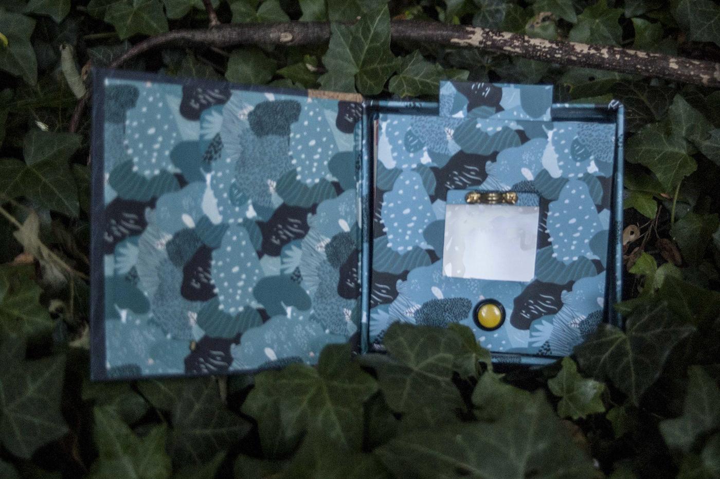 book binding ILLUSTRATION  led garden camouflage tunnel light