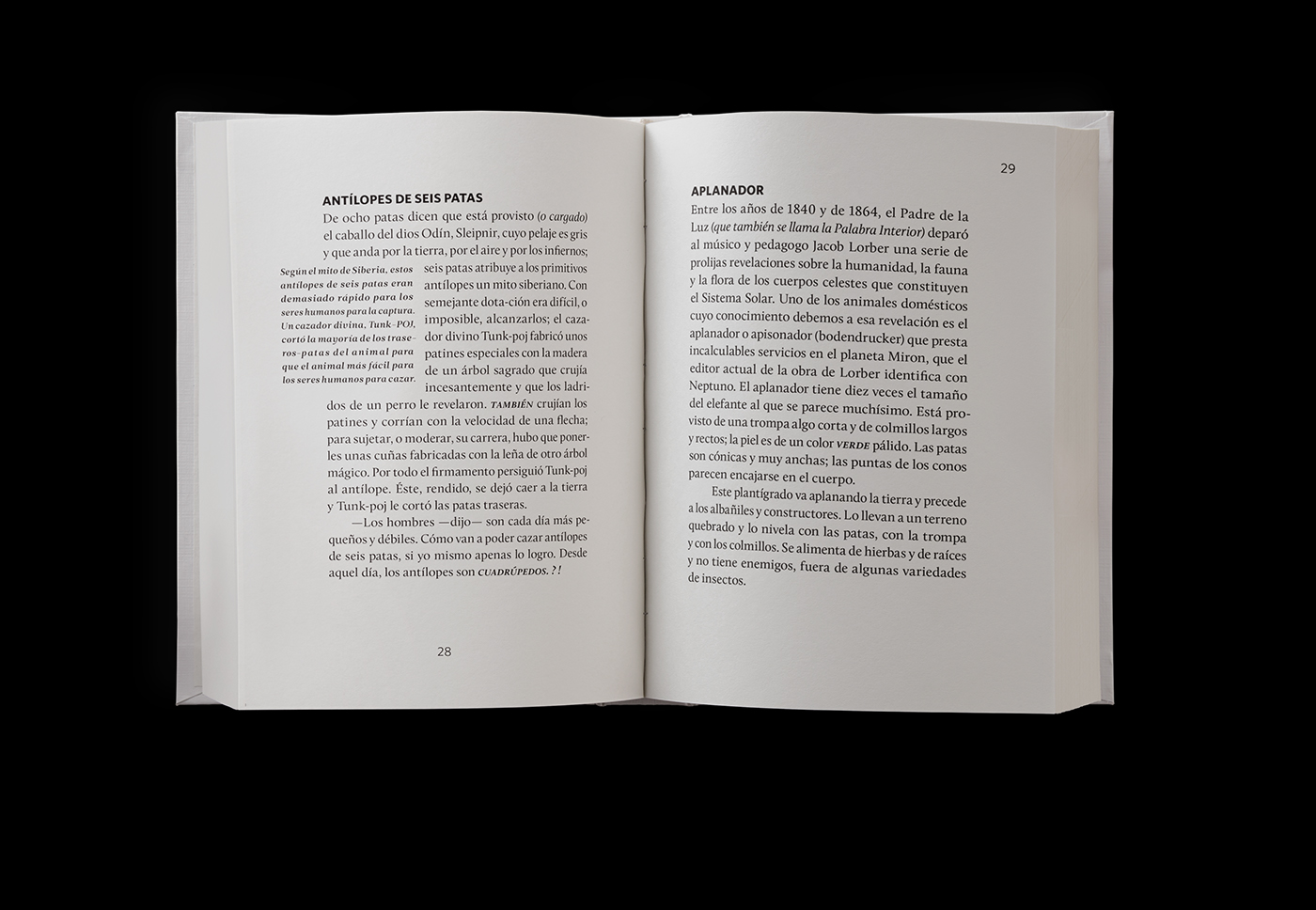 book design fantastic animal Borges skeleton mythology manual retouch