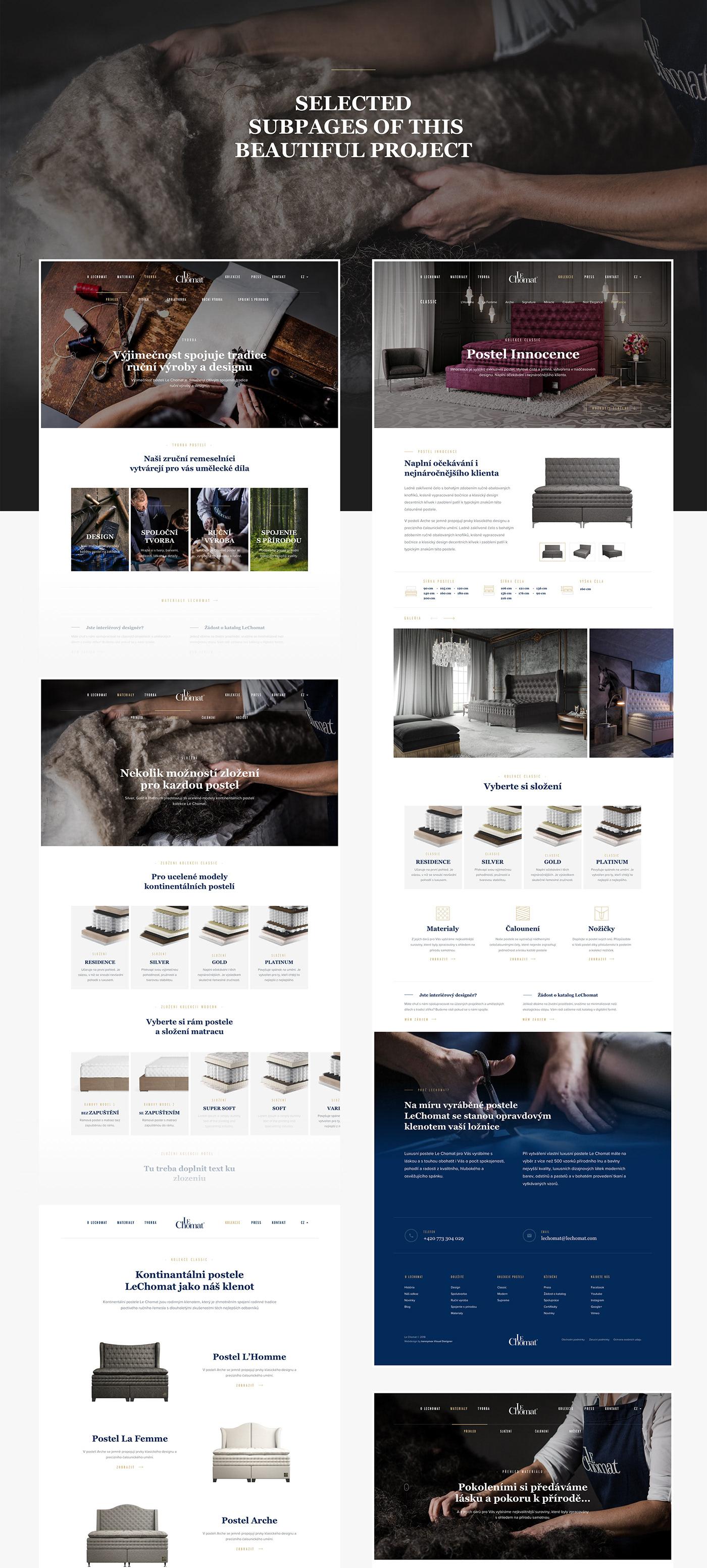 luxury home Webdesign modern Web landing user interface Interface UI furniture