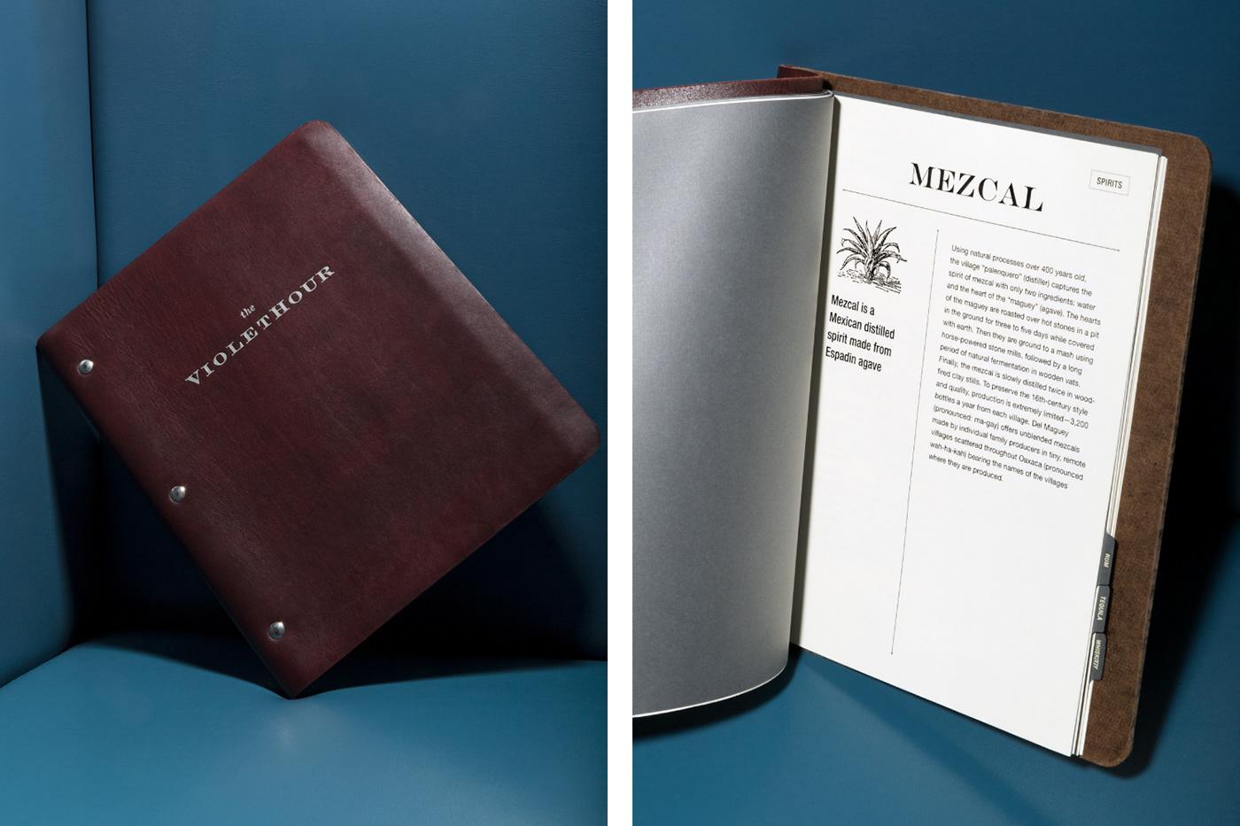 menu design branding  chicago