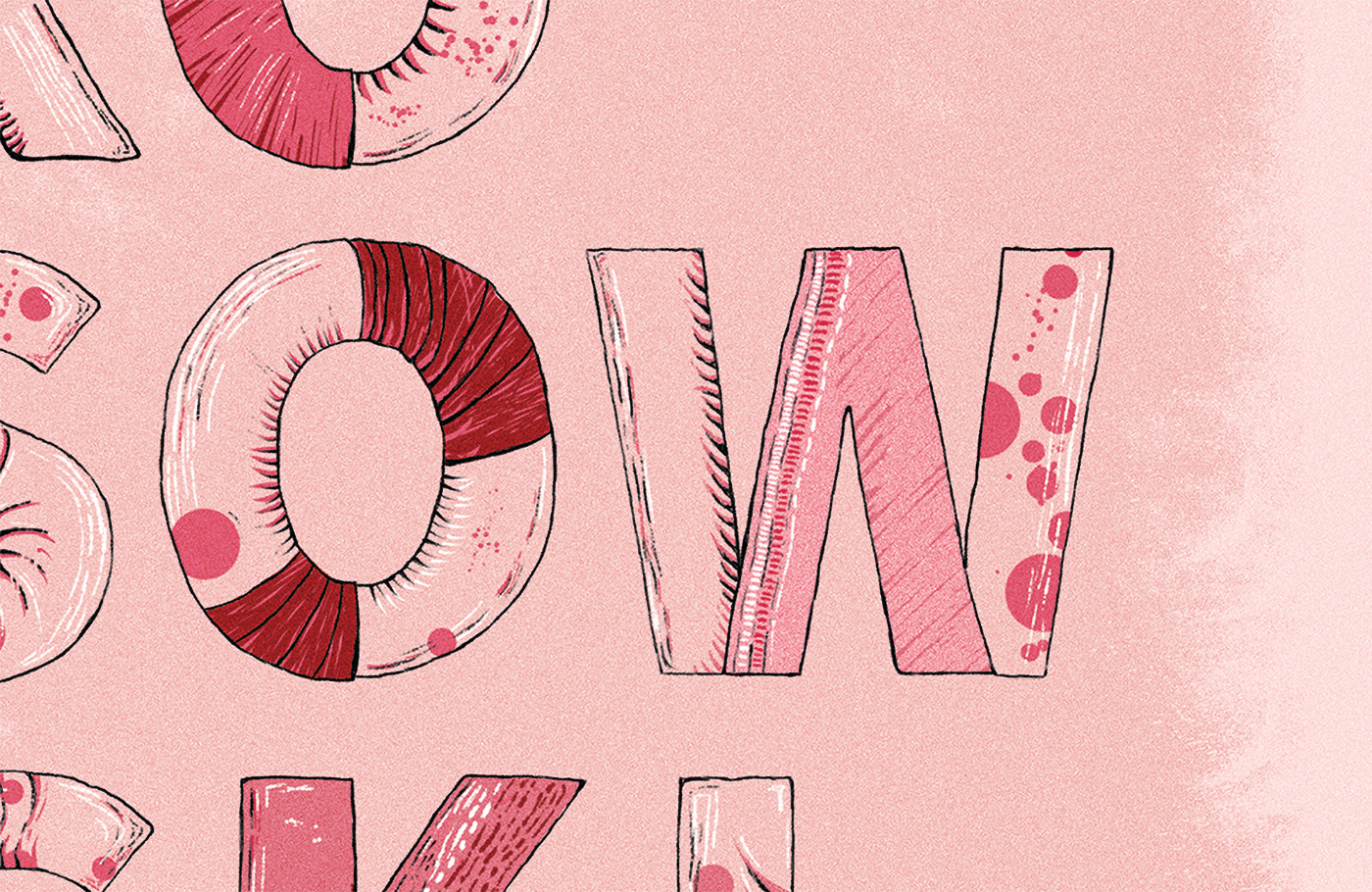 poster plakat typo typografia litera ilustracja kosowski study studia