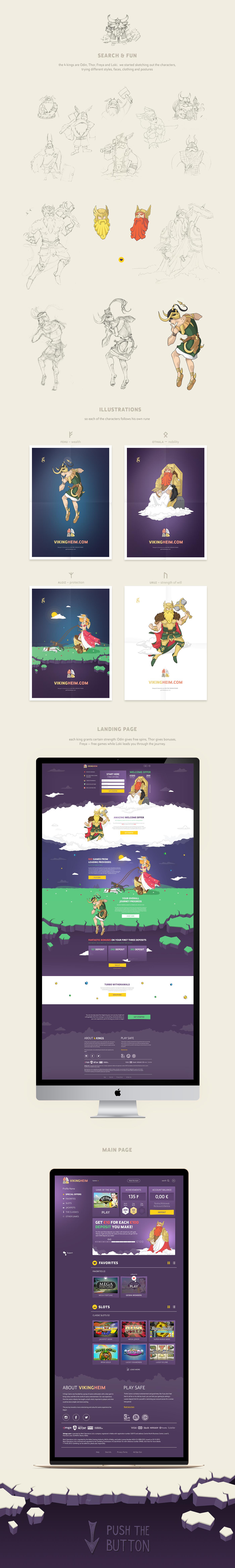 Online casino Vikingheim: Website, characters