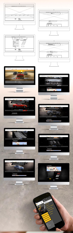 art design Web interactive automotive