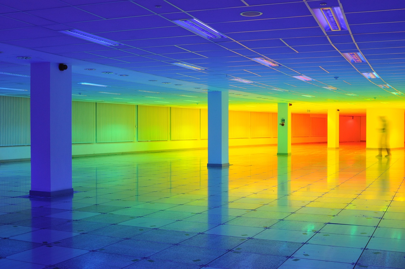 colour color light art Colour art installation light installation british artist Bristol light spectrum