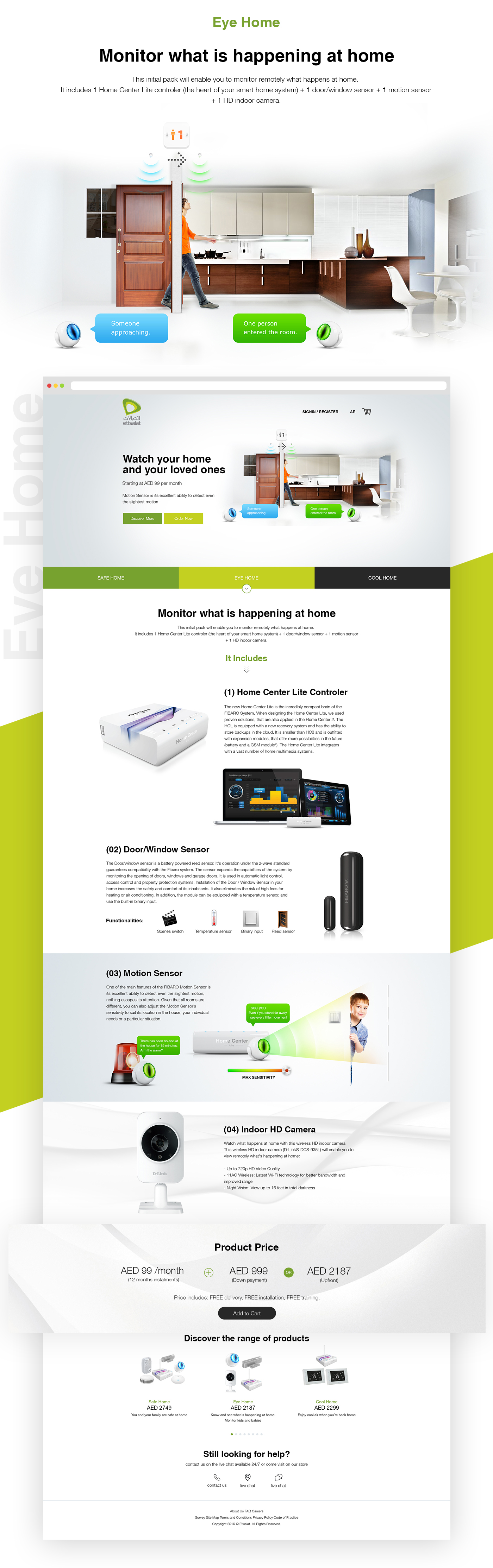 Smart Home,etisalat,UAE,fibaro,Home system,Home Engine,pixelzeesh,UI,ux