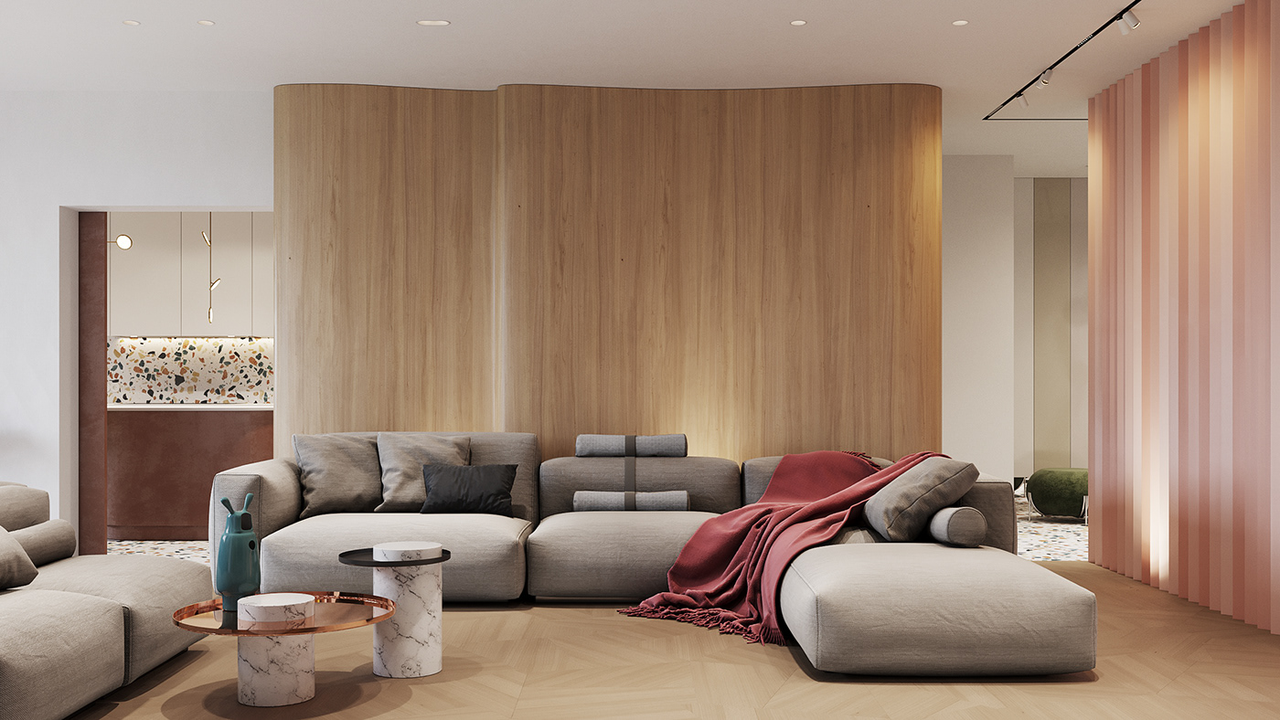 Interior modern apartment interiordesign mopstudio kitcheninterior luxury flat architecture