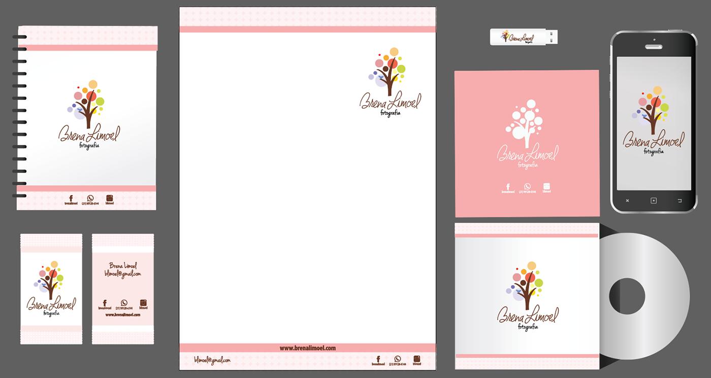 identidade visual logo Cartão de Visita papelaria
