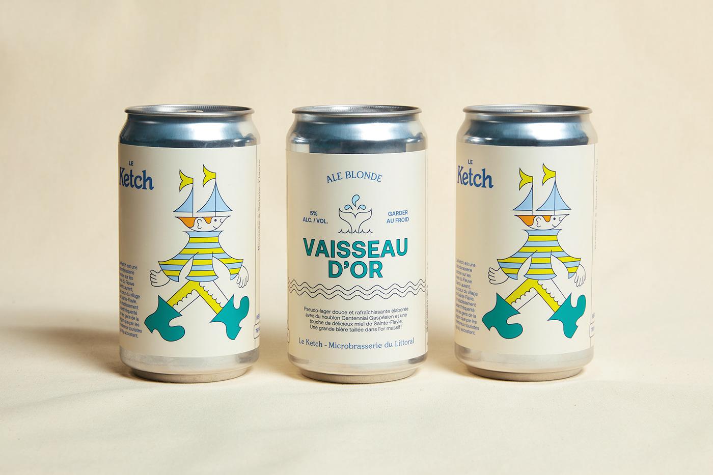 beer branding  gaspésie ILLUSTRATION  Label bouteille emballage etiquette Packaging product