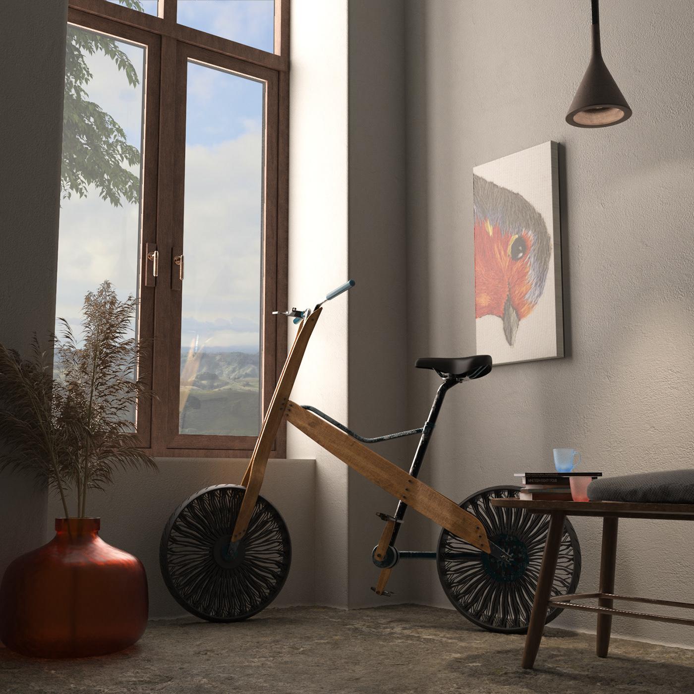 Bike RTA bamboo Urban design concept transportation Bicycle wood eco