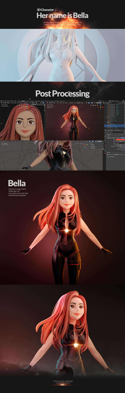3D 3D Character blender action art chatacter concept game modelling adventure