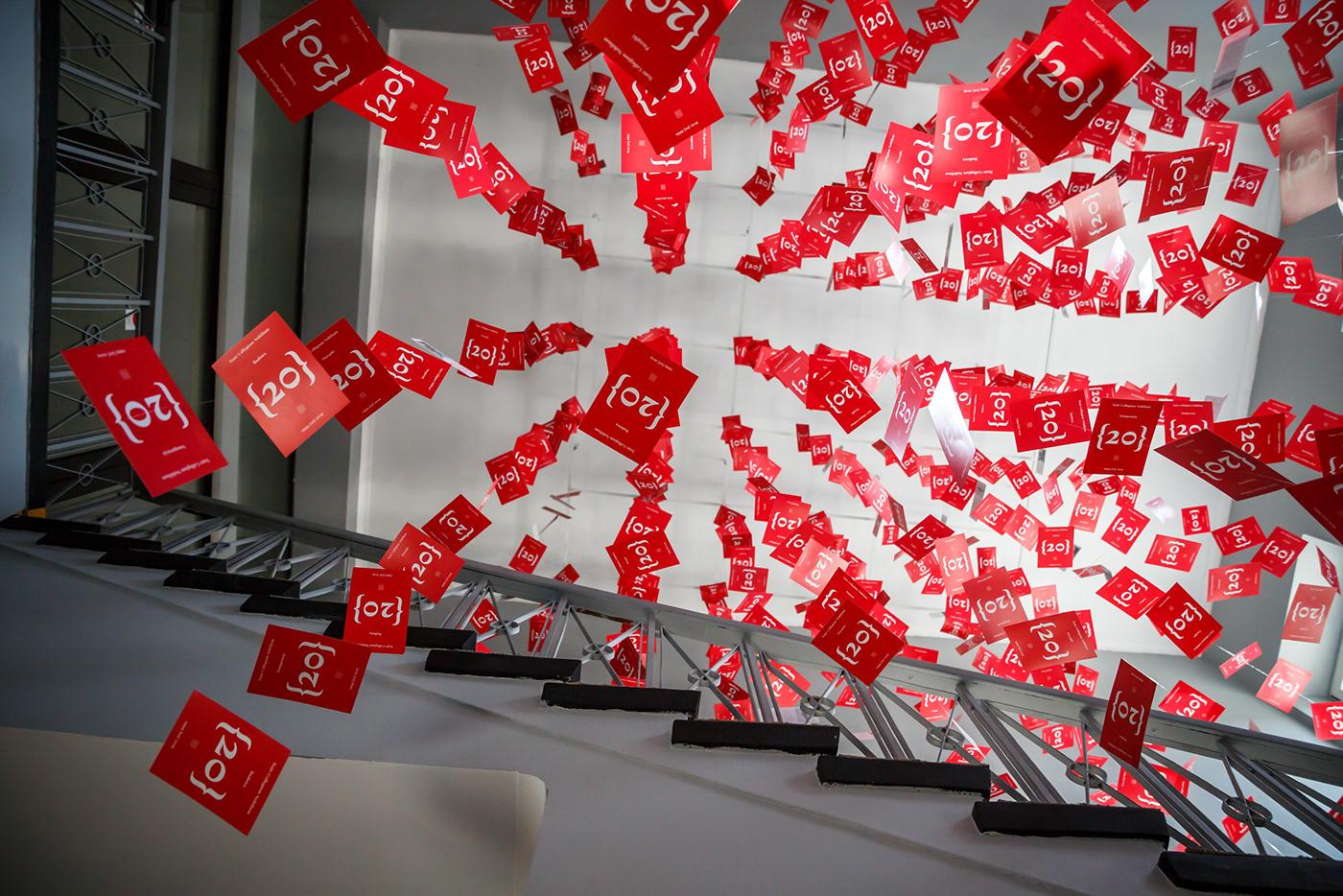 anniversary Exhibition  instalacja installation pocztówki postcards Theatre wystawa Space  graphic design