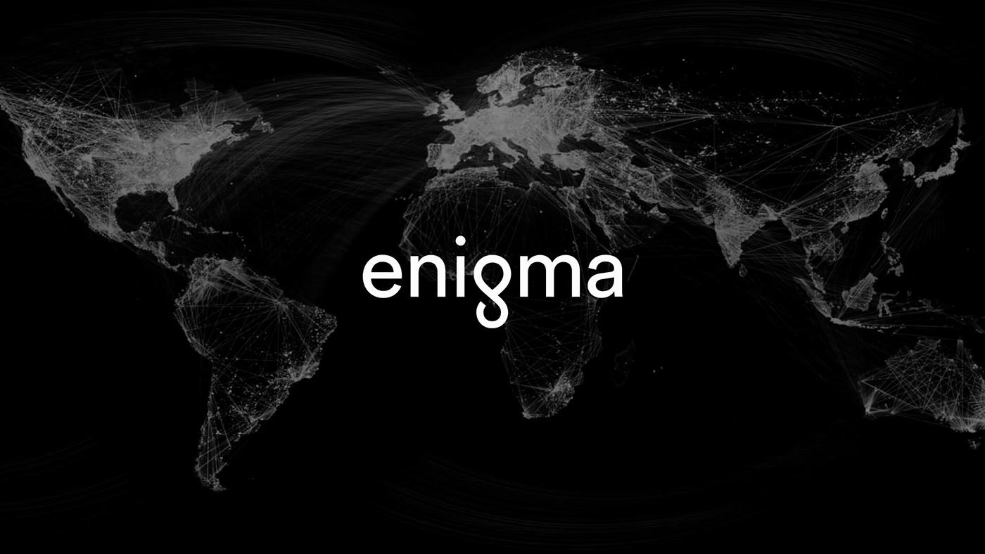 enigma Website brand identity Data infographics UI ux