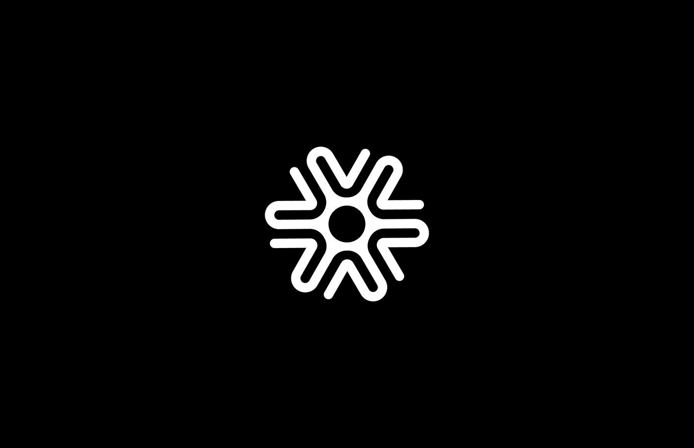 abstract black white monochrome design Icon logo Logotype mark shape symbol brand identity