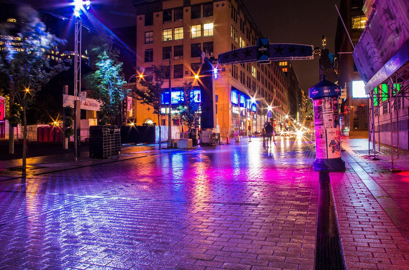 Night Streetlights.