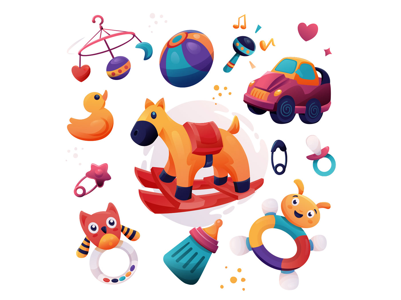 baby toy Character freebie ILLUSTRATION  Illustrator toy illustration vector vector design vector download Vector Illustration