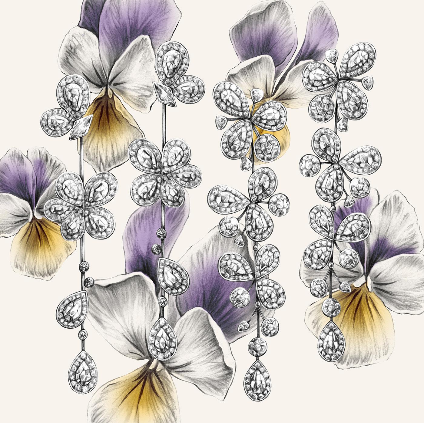 jewellery illustration ILLUSTRATION  Drawing  fashion illustration Realistic drawing fashion drawing art direction  Pencil drawing Pencil Art fashion art