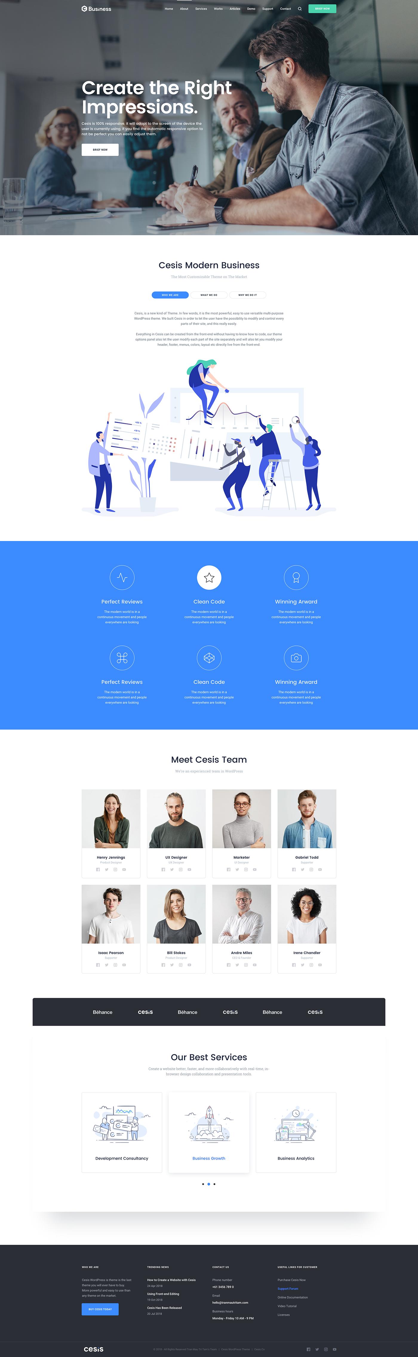 Business Sketch Template & WordPress Demo