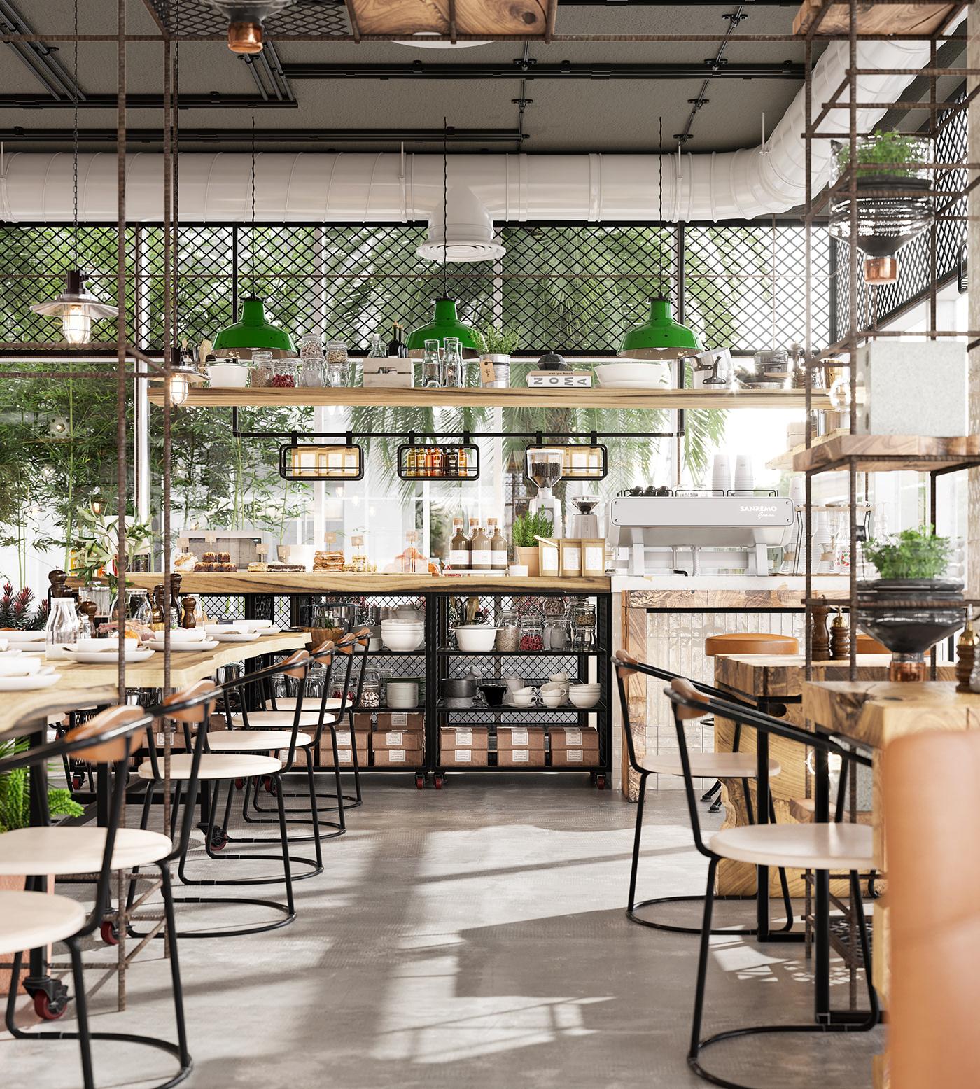 interior design  cafe restaurant Coffee