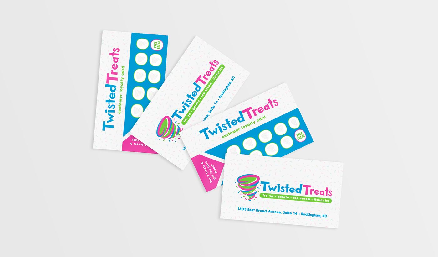 froyo branding  identity ice cream Logo Design