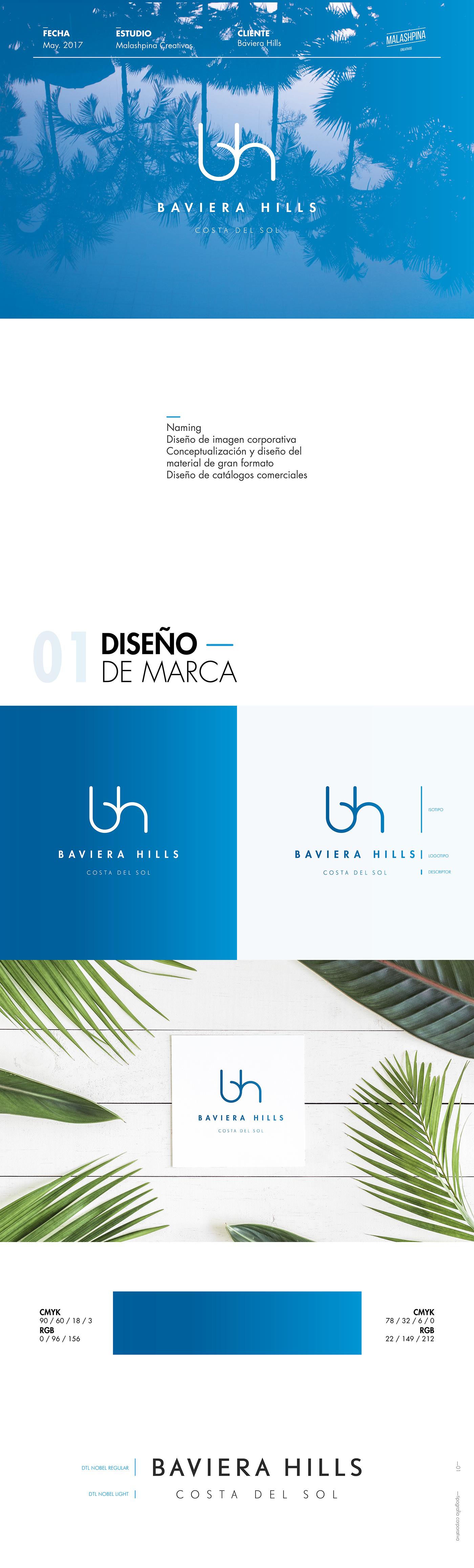 brand branding  costa del sol Marbella malaga brochure Stationary Branding  original presentation