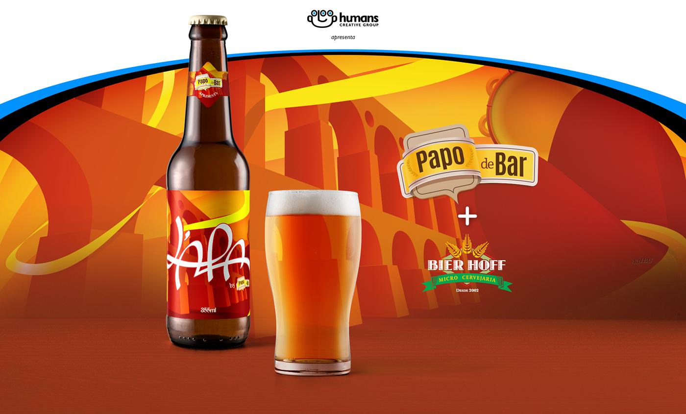 beer Cerveja lapa apa bottle package Label logo branding  ILLUSTRATION