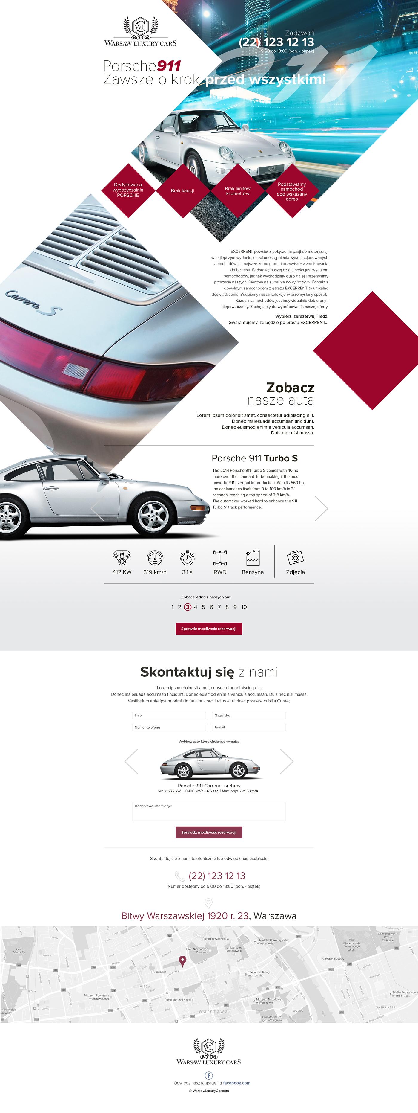 One Page Sebastian Sokołowski poland graphics Website Web site