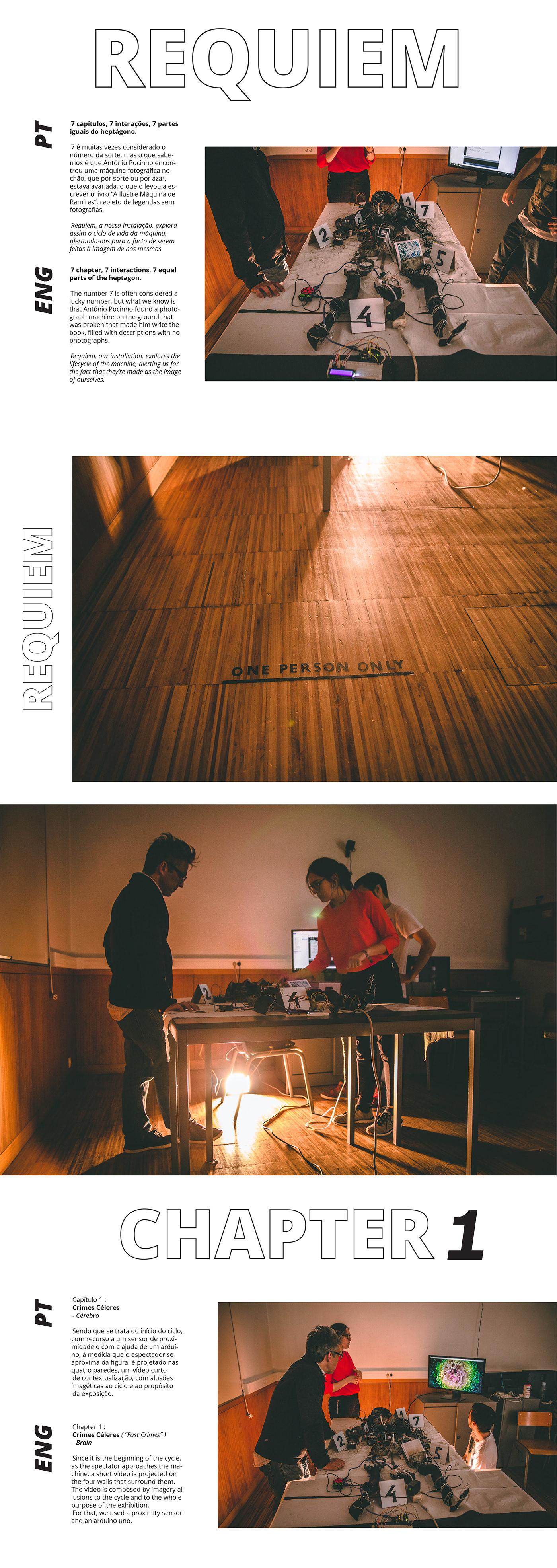 Interaction design  AR/VR web development  installation art direction  STEAMPUNK interactive installation Web Design  School Project