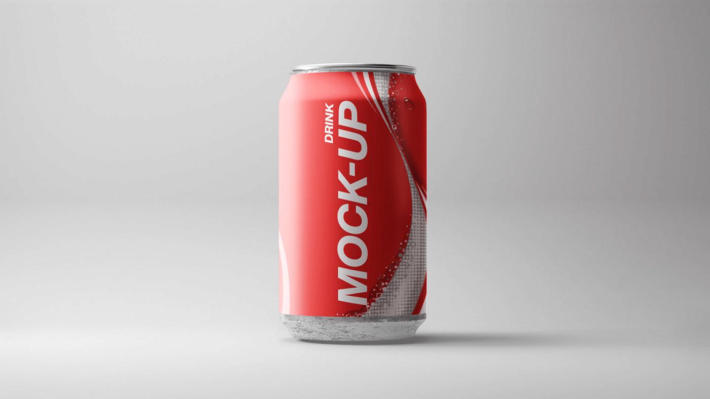 3D 3d mockup blender bottle cocacola free Mockup photoshop template